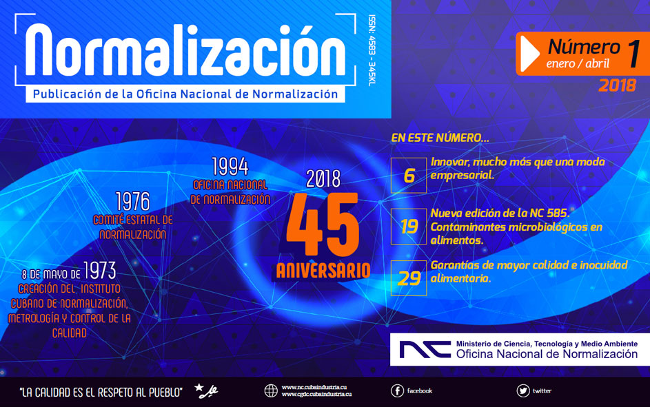 Revista Normalización No. 1 / 2018. (Ebook)